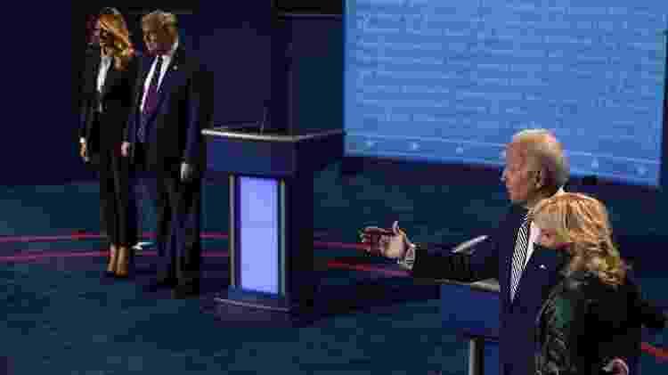 29.set.2020 - O candidato democrata Joe Biden tem aparecido à frente do atual presidente Donald Trump em pesquisas da corrida à Casa Branca - Morry Gash-Pool/Getty Images/AFP - Morry Gash-Pool/Getty Images/AFP
