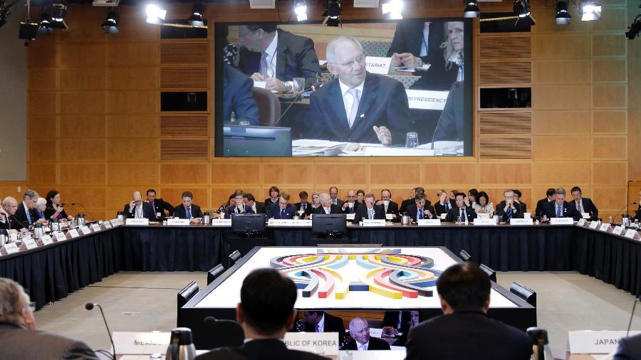 Reunião dos países-membros do FMI (Fundo Monetário Internacional, em Washington (DC), nos Estados Unidos - Getty Images