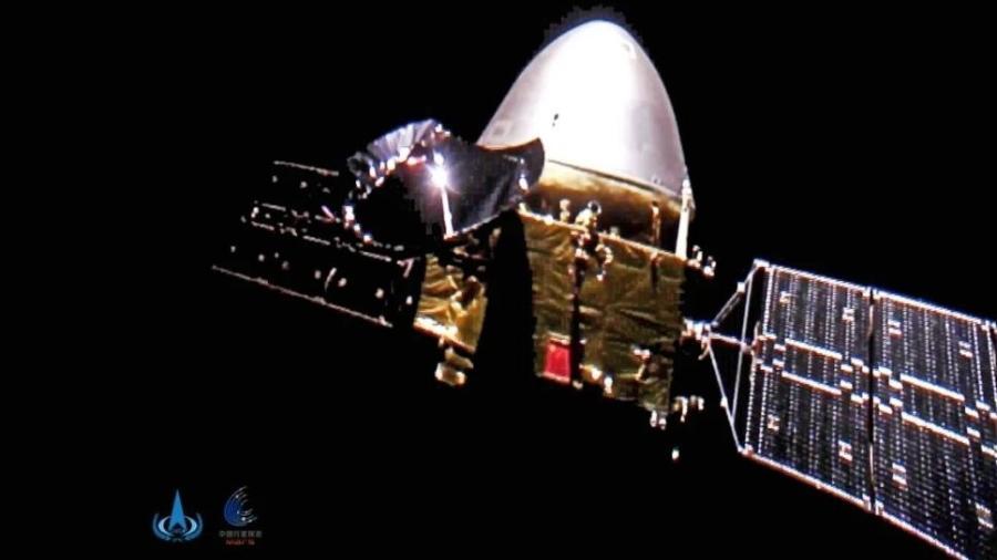Nave da China Tianwen-1 - Reprodução/CNSA