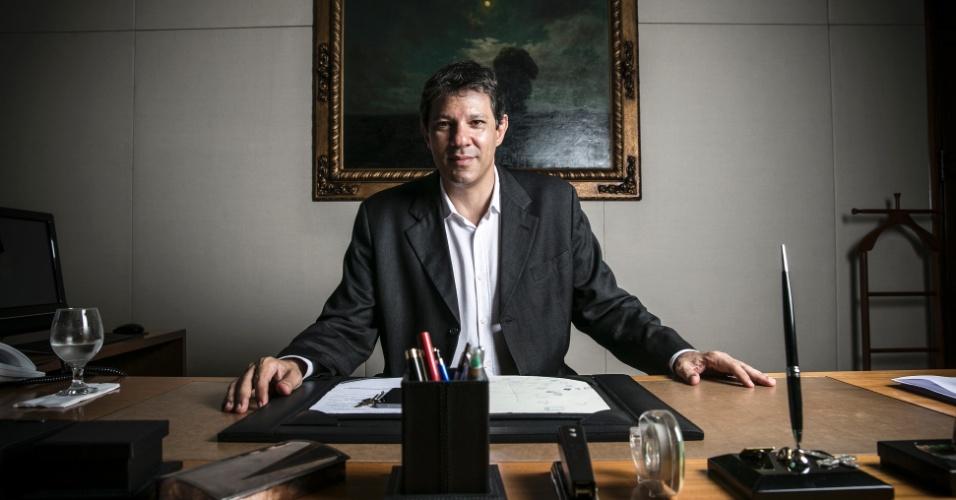 """19.fev.2016 - Fernando Haddad (PT) não diz nem que sim, nem que não sobre sua candidatura à reeleição para a Prefeitura de São Paulo. """"Tudo tem seu tempo"""""""