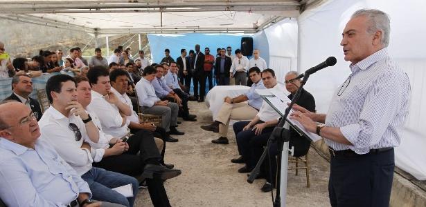 Presidente Michel Temer em cerimônia para assinatura de ato para recuperar e modernizar a Barragem Jucazinho