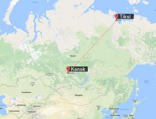 Avião militar russo decolou de Kansk e fez pouso forçado em Tiksi