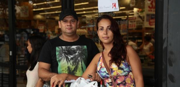 Sabrina Simões e seu marido, Wescley Brandão, tiveram dificuldades para encontrar alimentos