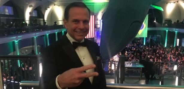 """Doria recebeu o prêmio de """"Homem do Ano"""", da Câmara de Comércio Brasil-EUA"""