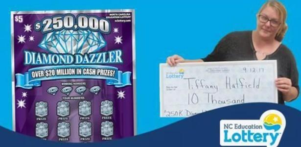 Tiffany Hatfield ganhou US$ 10 mil na loteria