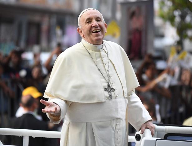 Papa Francisco no papamóvel durante a visita ao Chile, em janeiro