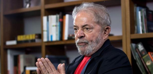 O ex-presidente Luiz Inácio Lula da Silva, na sede do Instituto Lula, em São Paulo