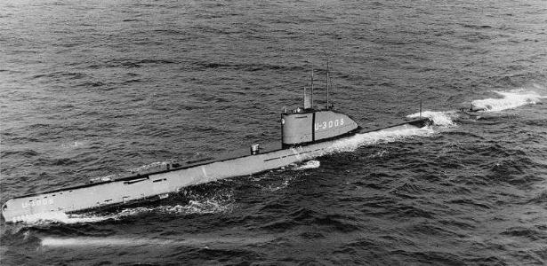 Este é um modelo semelhante ao do U-3523, um dos submarinos mais modernos já construídos pela Marinha nazista - BBC
