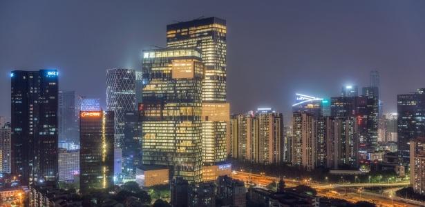 Sede da Tencent, gigante chinesa que é maior que o Facebook  - Getty Images