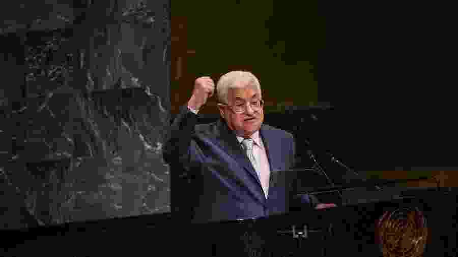 Mahmoud Abbas, presidente da Autoridade Nacional Palestina - Stephanie Keith/ AFP