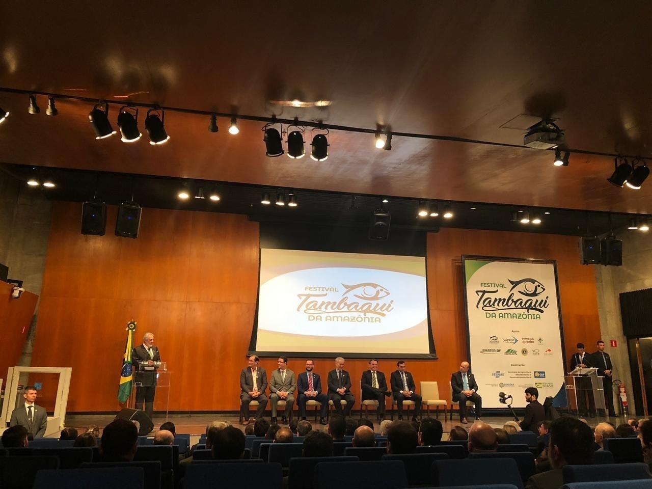 Bolsonaro assiste ao lançamento do Festival Tambaqui da Amazônia