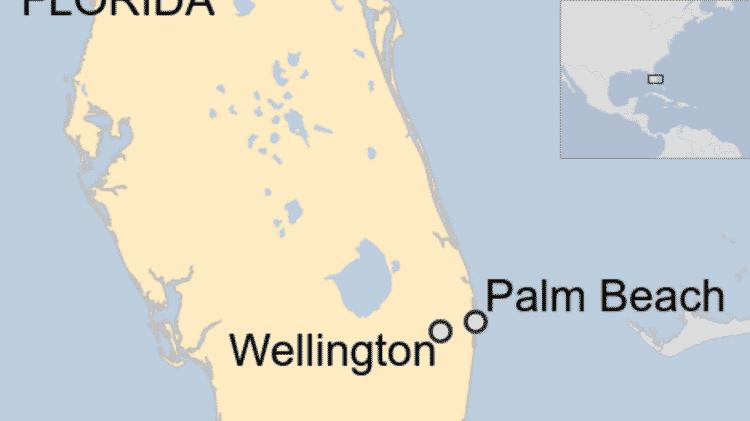 Polícia recebeu denúncia de que havia carro afundado em um lago em Moon Bay Circle, Wellington, na Flórida - BBC