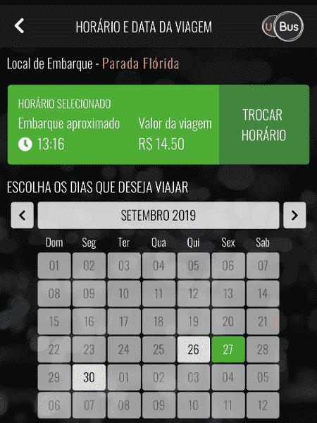 UBus permite agendar viagens em ônibus - Gabriel Francisco Ribeiro/UOL