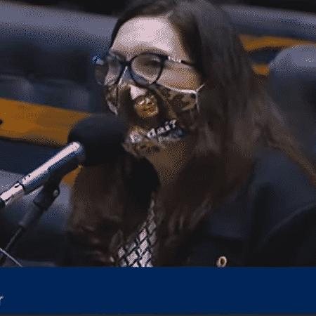 A deputada federal Bia Kicis (PSL-DF) - Reprodução/TV Câmara