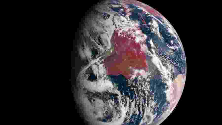 Imagem da Terra feita pela sonda Messenger - Nasa /Johns Hopkins University Applied Physics Laboratory/Carnegie Institution of Washington