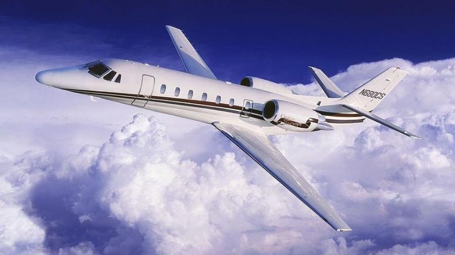 Jato Cessna durante voo - Getty Images