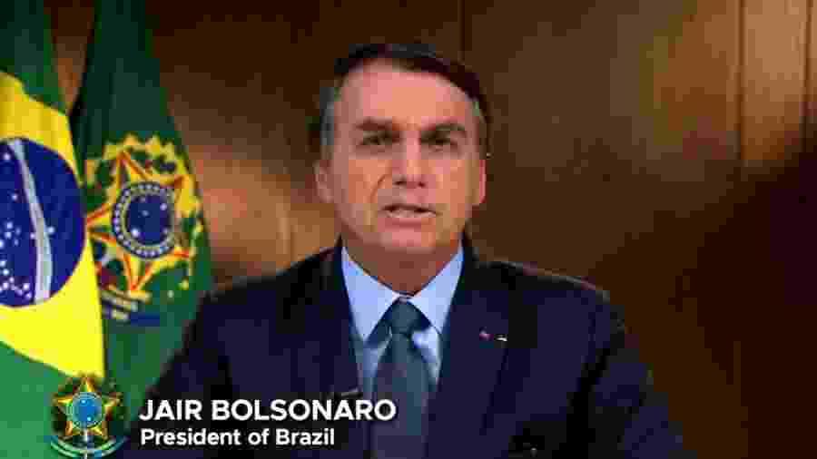 Discurso de Jair Bolsonaro na abertura da Assembleia Geral da ONU - Reprodução/YouTube