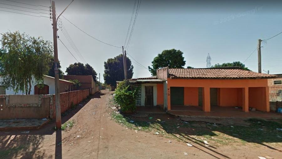 Trecho da rua em que o dinheiro do resgate foi entregue aos sequestradores, segundo B.O - Google Street View