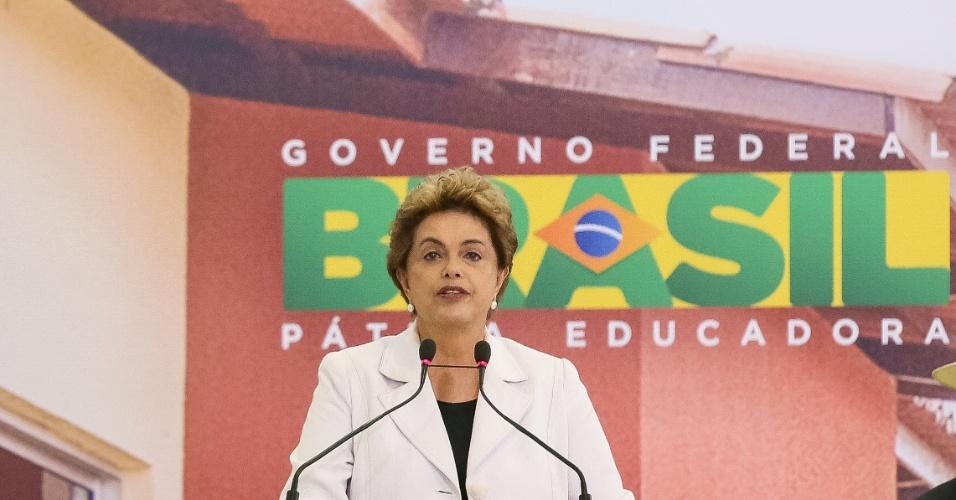 30.mar.2016 - Presidente Dilma Rousseff discursa durante cerimônia de lançamento do Programa Minha Casa, Minha Vida 3, em Brasília