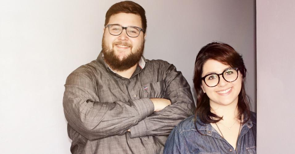 O casal Pedro Benites e Lívia Dall'Agnol é dono da marca Matiz que vende peças com algodão orgânico e sem definição de gênero (rosa ou azul) para bebês.