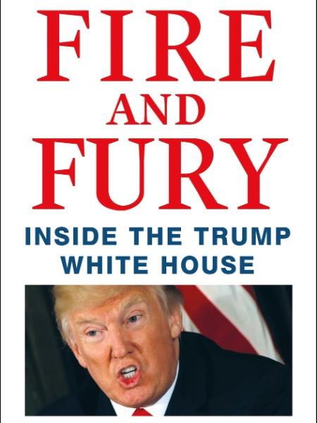 "Capa do livro ""Fire and Fury - inside the Trump White House"", de Michael Wolff - Henry Holt and Company via AFP"