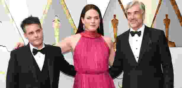 Sebastian Lelio (L) and Daniela Vega arrive for the 90th Annual Academy Awards on March 4, 2018, in Hollywood, California. / AFP PHOTO / VALERIE MACON - AFP