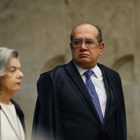 O ministro Gilmar Mendes ao lado de Cármen Lúcia - Marcelo Chello -1º.fev.2019/Folhapress