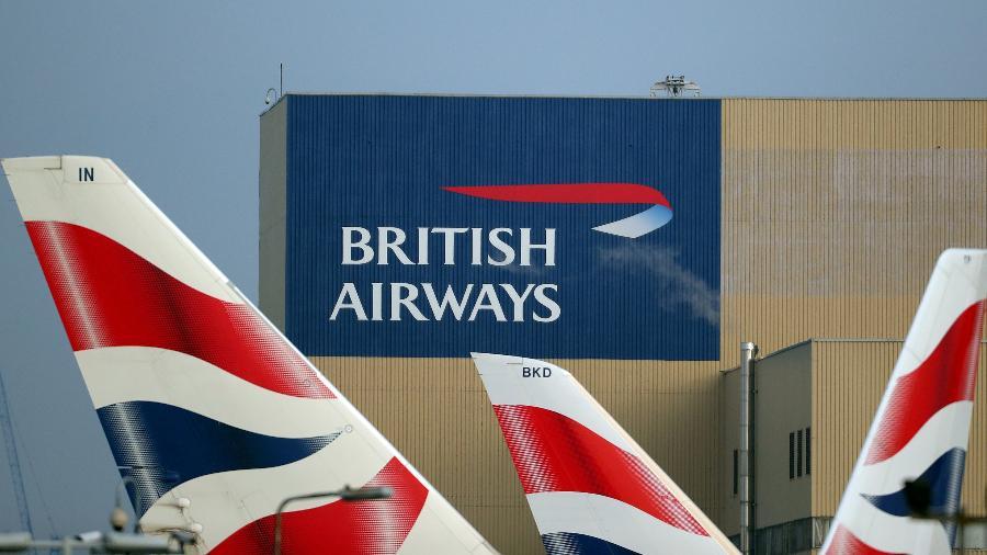 Logo da British Airways no aeroporto de Londres, no Reino Unido - Hannah McKay/Reuters