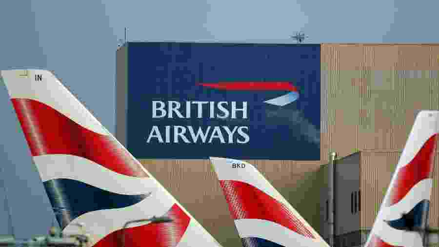 Logo da British Airways no aeroporto de Londres, no Reino Unido - Hannah McKay/Reuters
