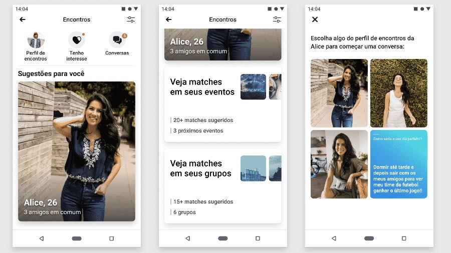 Facebook lançou sua versão própria do Tinder no Brasil - Divulgação