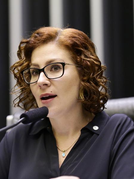 A deputada Carla Zambelli (PSL-SP) em sessão solene na Câmara dos Deputados - Michel Jesus/ Câmara dos Deputados
