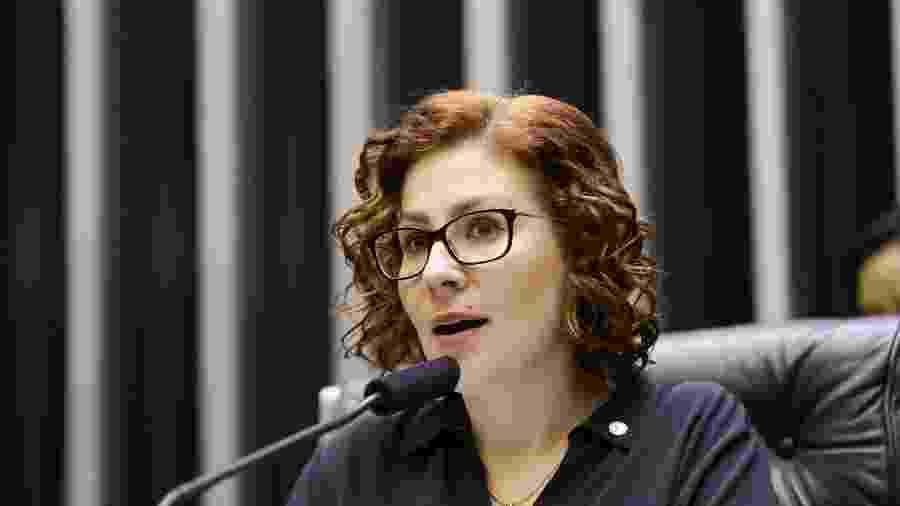 A deputada Carla Zambelli criticou a operação da PF de ontem no inquérito das fake news - Michel Jesus/ Câmara dos Deputados