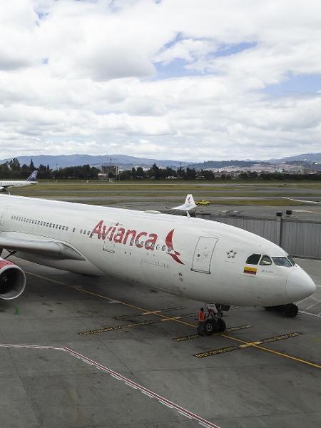 Avião da Avianca Colômbia - Alexandre Saconi