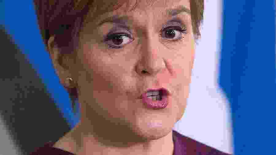 A primeira-ministra da Escócia, Nicola Sturgeon - POOL