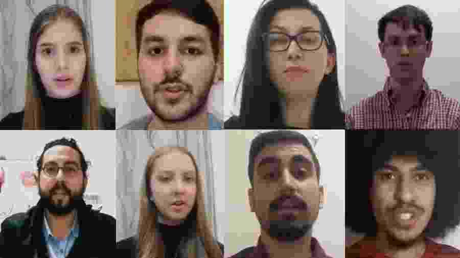 Brasileiros na China fazem vídeo pedindo que o governo brasileiro os retire do país - Reprodução/YouTube