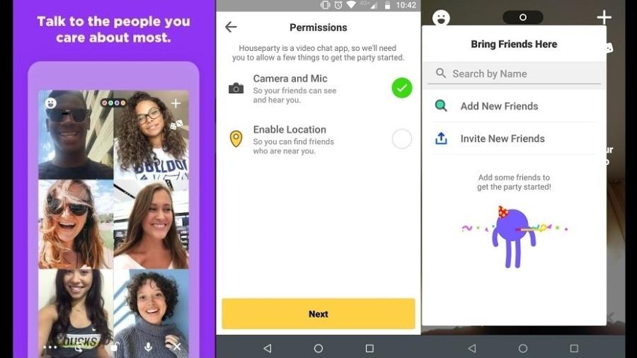 Houseparty é o app leito por muitos para animar encontros online durante quarentena - Reprodução