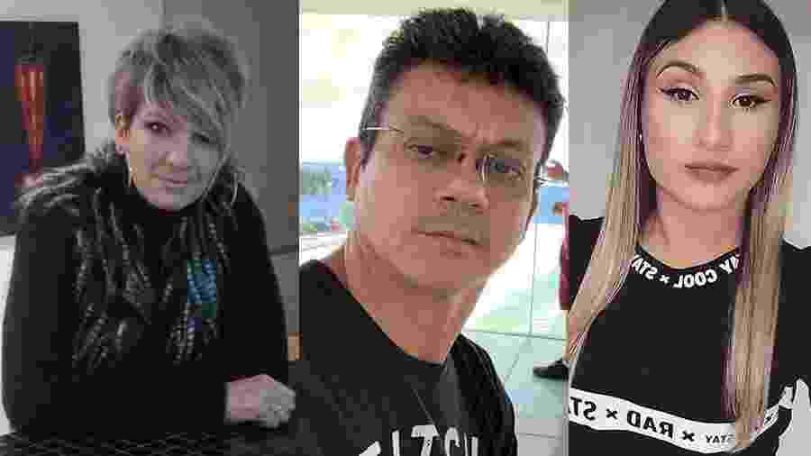Da esquerda para a direita: Claudia, Antônio e Rosi - Arte/UOL