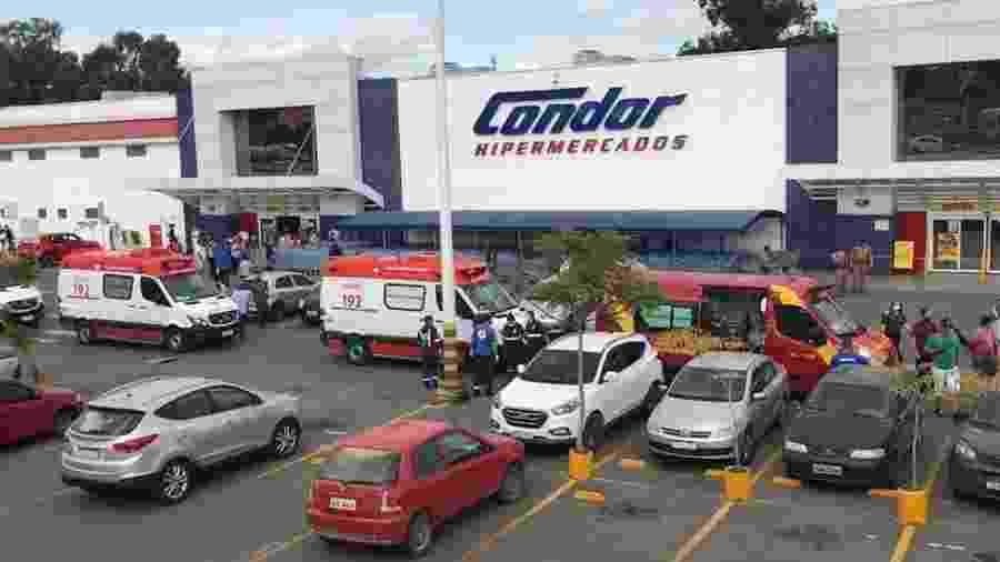 Hipermercado Condor, onde uma funcionária morreu em Araucária (PR) - Reprodução/Twitter