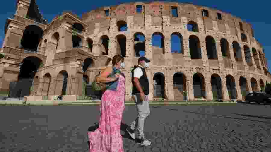 Centro de Roma está muito mais vazio por causa da pandemia - Getty Images