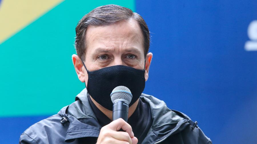 João Doria disse que a postura do governo Bolsonaro em relação à China dificulta a liberação de insumos pela China - Sergio Andrade/Governo de São Paulo