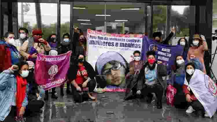 Familiares e amigos protestaram durante o julgamento - Luís Pedruco/Pera Photo Press/Estadão Conteúdo - Luís Pedruco/Pera Photo Press/Estadão Conteúdo
