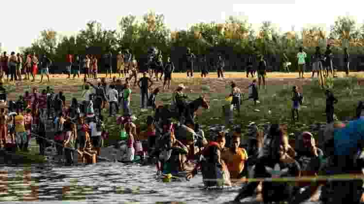 Maioria dos imigrantes detidos na fronteira americana nesta semana era haitiana - REUTERS - REUTERS
