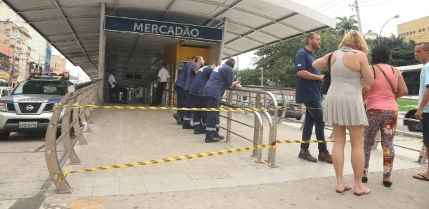 Estação do BRT Transcarioca em trecho inaugurado na zona norte carioca. O corredor expresso de ônibus foi projetado para os Jogos Olímpicos de 2016