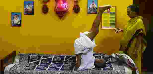 O monge indiano Swami Sivananda - Dibyangshu Sarkar/AFP - Dibyangshu Sarkar/AFP