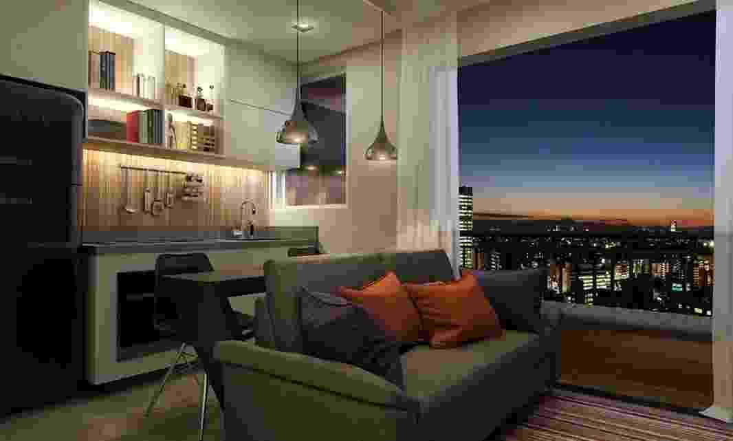 Apartamento tem 27 m² e um dormitório - Divulgação