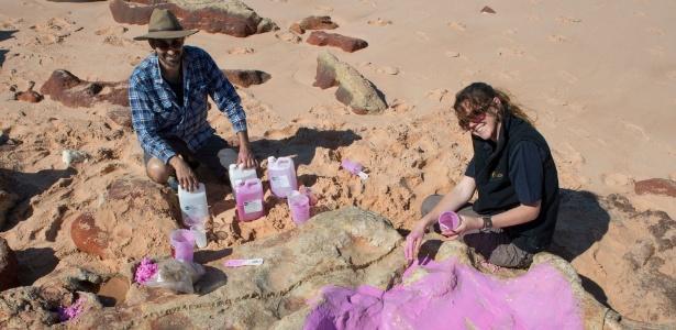 Pegadas de dinossauros foram descobertas no 'Jurassic Park' australiano