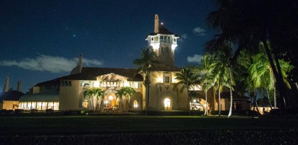 Mar-a-Lago, o clube do presidente Donald Trump em Palm Beach, na Flórida, onde ele se encontrará com o presidente chinês, Xi Jinping