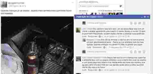 Em postagem no Facebook, motoboy escreveu: ''Quando fala que já vai descer... quanto mais demora mais quentinho fica o refri kkkkkkk'' - Reprodução/Facebook/Motoboy's e Entregadores - Reprodução/Facebook/Motoboy's e Entregadores