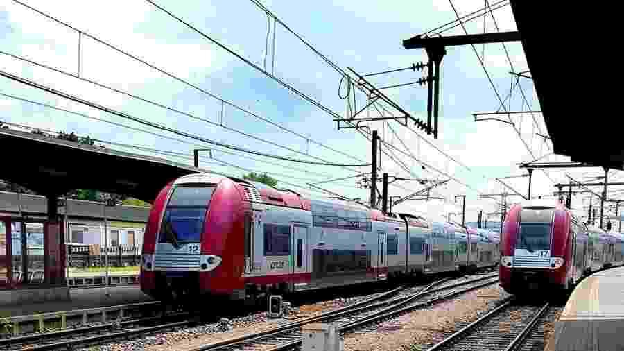Trens chegam à estação de Bettembourg, em Luxemburgo - Facebook