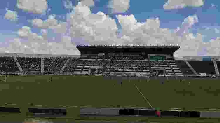 Foto do Limeirão, estádio da Inter de Limeira, com a câmera principal do Galaxy A50 - Gabriel Francisco Ribeiro/UOL